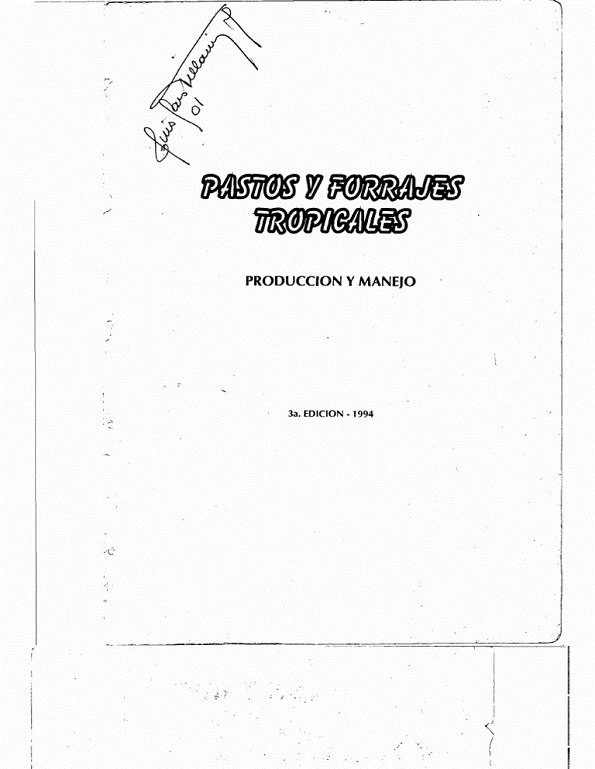 Libro de Pastos y forrajes tropicales