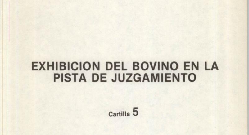 Libro Exhibicion del bovino